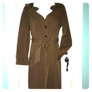 Size small chocolate brown trench jacket
